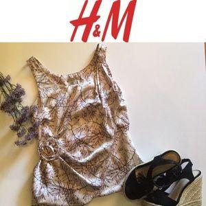 Purple Floral H&M Top Size 2